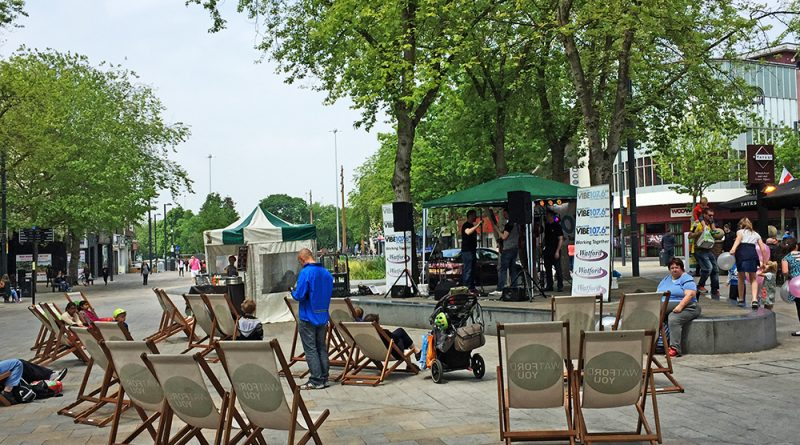 The bandstand provides a focus for activity